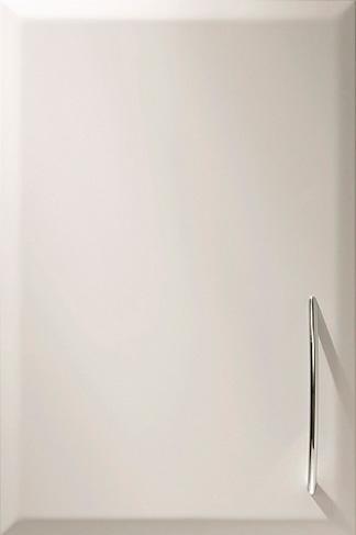 Onyx – Lackerad vit kökslucka med kantprofil ONYX