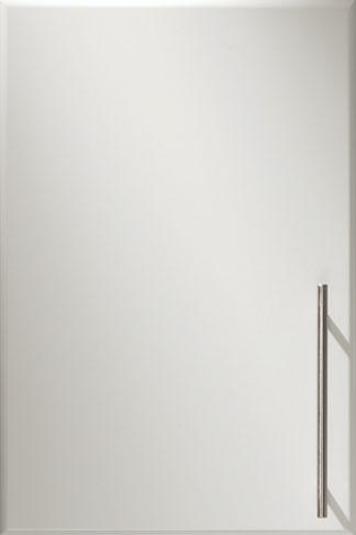 Postform – Vit lackerad kökslucka med kantprofil BUA